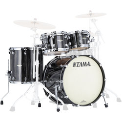 Tama Starclassic Maple 4-Piece Shell Pack - 22/16FT/12/10, Black Clouds and Silver Linings