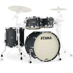 Tama Starclassic Maple 4-Piece Shell Pack - 22/16FT/12/10, Flat Black