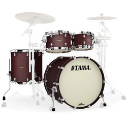 Tama Starclassic Maple 4-Piece Shell Pack - 22/16FT/12/10, Flat Burgundy Metallic