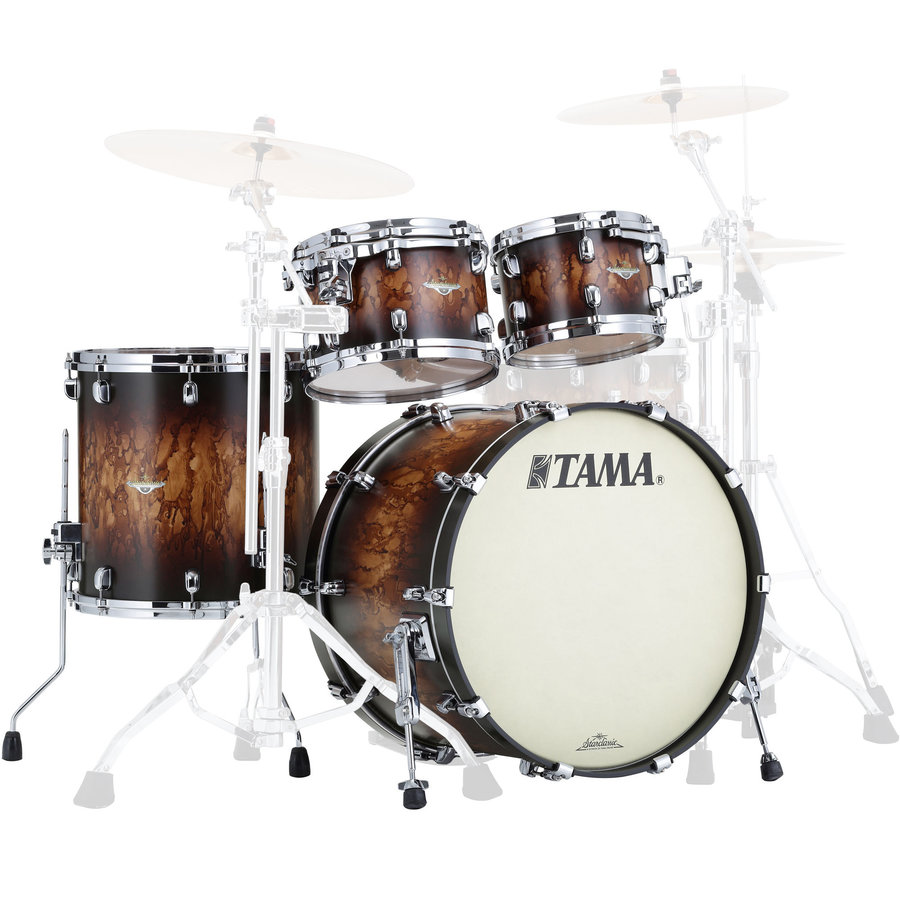 View larger image of Tama Starclassic Maple 4-Piece Shell Pack - 22/16FT/12/10, Molten Satin Brown Burst