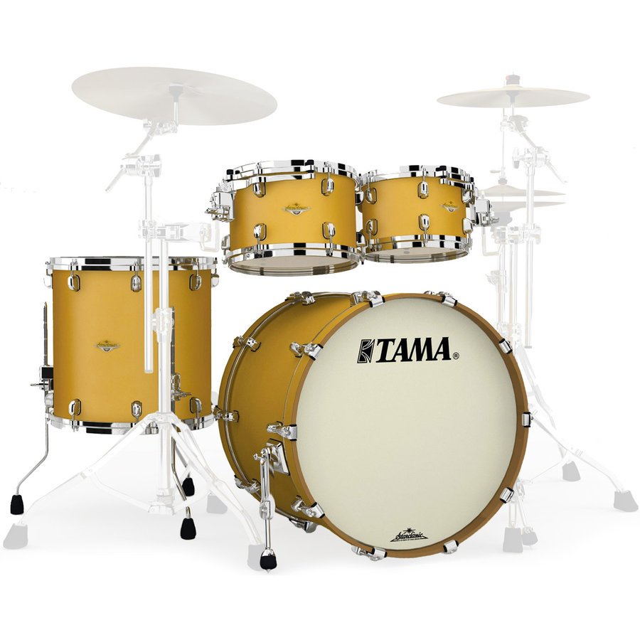 View larger image of Tama Starclassic Maple 4-Piece Shell Pack - 22/16FT/12/10, Satin Aztec Gold Metallic