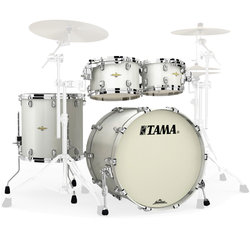 Tama Starclassic Maple 4-Piece Shell Pack - 22/16FT/12/10, Satin Pearl White