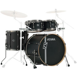 Tama Superstar Hyper-Drive 4-Piece Shell Pack - 22/16FT/12/10, Flat Black