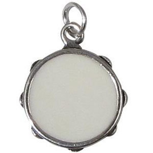 View larger image of Tambourine Silver Charm