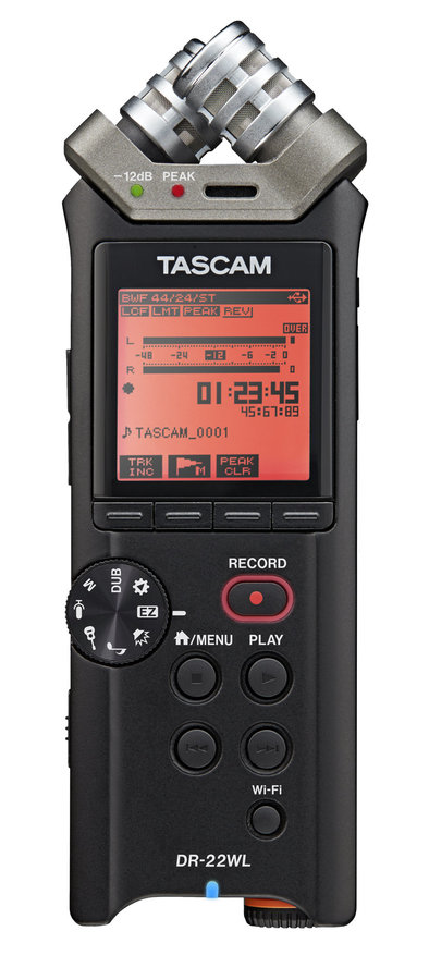View larger image of Tascam DR-22WL Portable Handheld Recorder with Wi-Fi