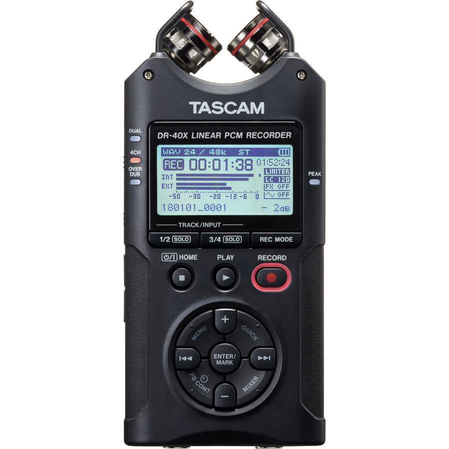 View larger image of Tascam DR-40X Handheld Recorder