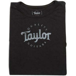 Taylor Black Logo T-Shirt - Women's Large