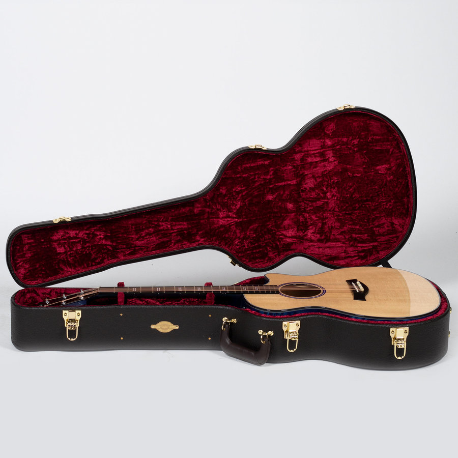 View larger image of Taylor Custom Grand Auditorium - Sitka Spruce / Quilted Maple Royal Purple