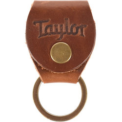 Taylor Key Ring with Pick Holder - Medium Brown Nubuck