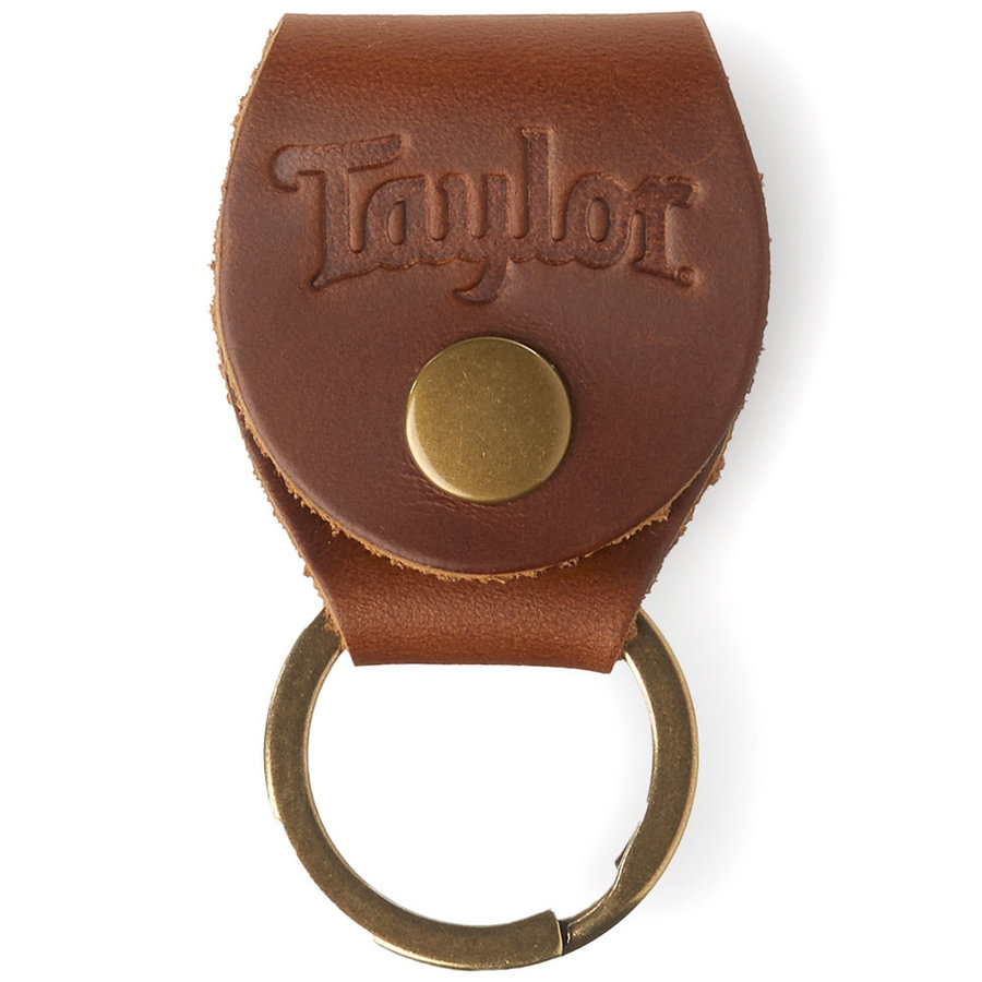 View larger image of Taylor Key Ring with Pick Holder - Medium Brown Nubuck