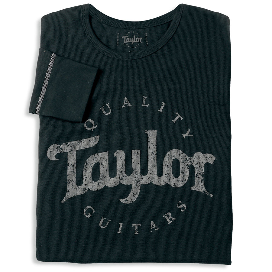 View larger image of Taylor Aged Logo Thermal T-Shirt - Black, Men's Small