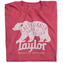 Taylor California Bear T-Shirt - Heather Red, Men's Small