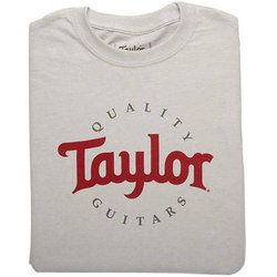 Taylor Two-Color Logo T-Shirt - Ice Grey, Men's Small