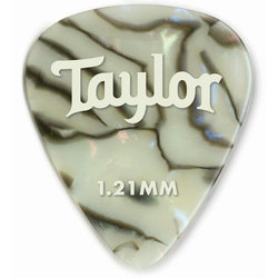 Taylor Picks - Celluloid 351, Abalone, 1.21 mm, 12 Pack