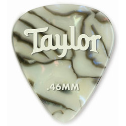 Taylor Picks - Celluloid 351, Abalone, .46 mm, 12 Pack