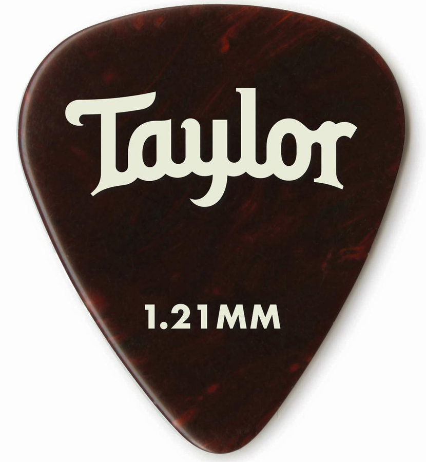 View larger image of Taylor Picks - Celluloid 351, Tortoise Shell, 1.21 mm, 12 Pack