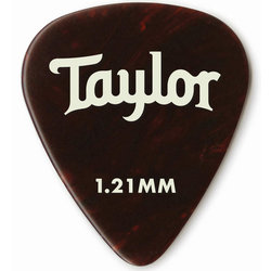 Taylor Picks - Celluloid 351, Tortoise Shell, 1.21 mm, 12 Pack