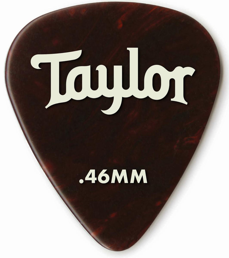 View larger image of Taylor Picks - Celluloid 351, Tortoise Shell, .46 mm, 12 Pack