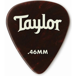 Taylor Picks - Celluloid 351, Tortoise Shell, .46 mm, 12 Pack