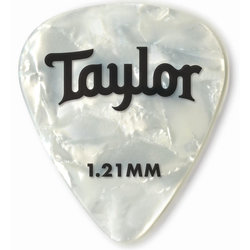 Taylor Picks - Celluloid 351, White Pearl, 1.21 mm, 12 Pack