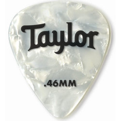 Taylor Picks - Celluloid 351, White Pearl, .46 mm, 12 Pack