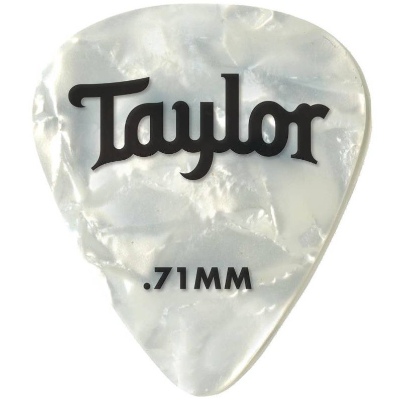 View larger image of Taylor Picks - Celluloid 351, White Pearl, .71 mm, 12 Pack