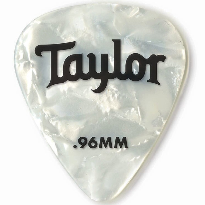 View larger image of Taylor Picks - Celluloid 351, White Pearl, .96 mm, 12 Pack