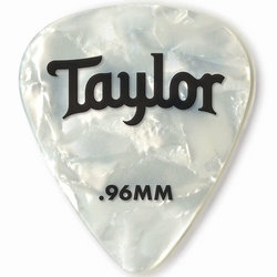 Taylor Picks - Celluloid 351, White Pearl, .96 mm, 12 Pack