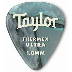 Taylor Picks - Premium 351 Thermex Ultra, Abalone, 1.00 mm, 6 Pack