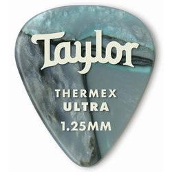Taylor Picks - Premium 351 Thermex Ultra, Abalone, 1.25 mm, 6 Pack