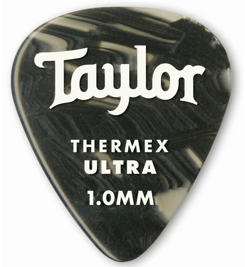 View larger image of Taylor Picks - Premium 351 Thermex Ultra, Black Onyx, 1.00 mm, 6 Pack