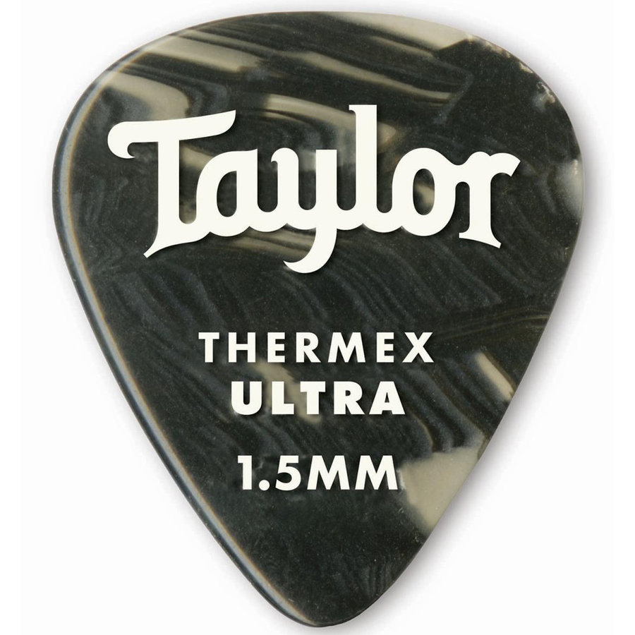View larger image of Taylor Picks - Premium 351 Thermex Ultra, Black Onyx, 1.50 mm, 6 Pack