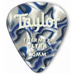 Taylor Picks - Premium 351 Thermex Ultra, Blue Swirl, 1.00 mm, 6 Pack