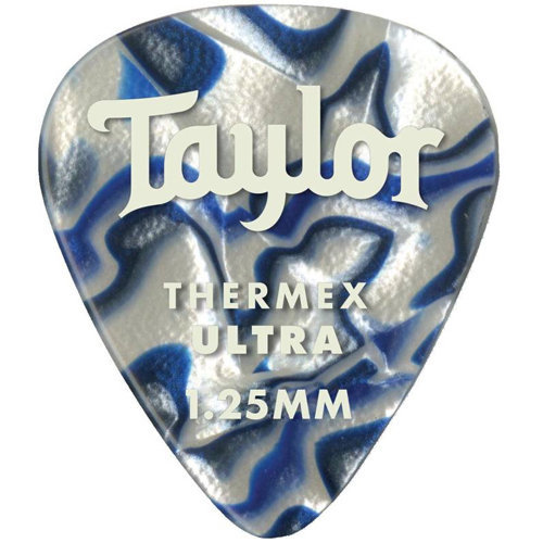 View larger image of Taylor Picks - Premium 351 Thermex Ultra, Blue Swirl, 1.25 mm, 6 Pack