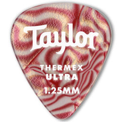 Taylor Picks - Premium Darktone 351 Thermex Ultra, Ruby Swirl, 1.00 mm, 24 Pack