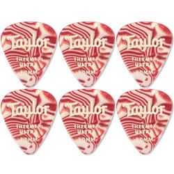 Taylor Picks - Premium Darktone 351 Thermex Ultra, Ruby Swirl, 1.00 mm, 6 Pack