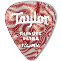 Taylor Picks - Premium Darktone 351 Thermex Ultra, Ruby Swirl, 1.50 mm, 24 Pack