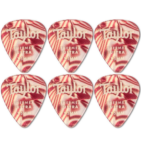 View larger image of Taylor Picks - Premium Darktone 351 Thermex Ultra, Ruby Swirl, 1.50 mm, 6 Pack