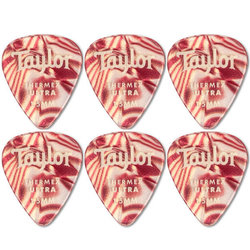 Taylor Picks - Premium Darktone 351 Thermex Ultra, Ruby Swirl, 1.50 mm, 6 Pack