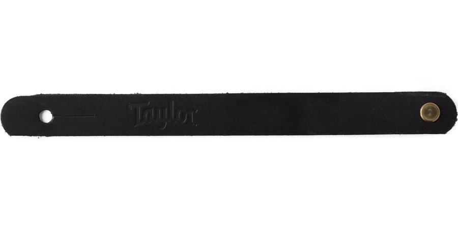 View larger image of Taylor Guitar Strap Adapter - Sanded Suede Black
