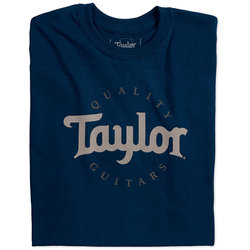Taylor Two-Colour Logo T-Shirt - Navy Blue, XL