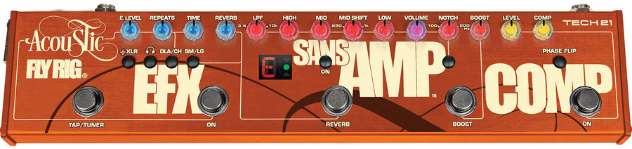 View larger image of Tech 21 Acoustic Fly Rig Multi-Effects Pedal