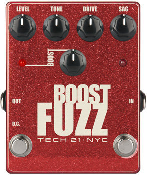 View larger image of Tech 21 Boost Fuzz Pedal - Metallic