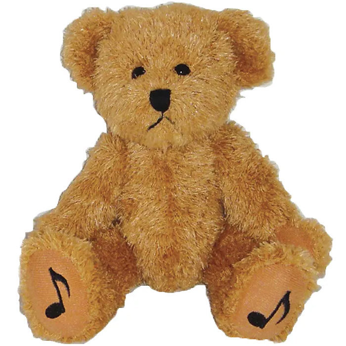 View larger image of Teddy Bear with Music Note Feet