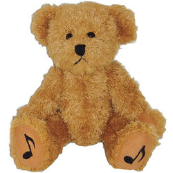 Teddy Bear with Music Note Feet