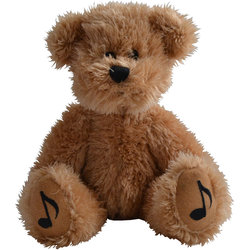 Teddy Bear with Music Notes on Feet