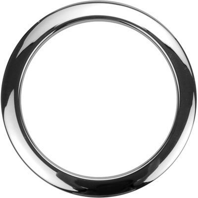 """View larger image of Bass Drum O's Hole Reinforcement Template - 4"""", Chrome"""