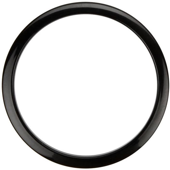 """View larger image of Bass Drum O's Hole Reinforcement Template - 6"""", Black"""