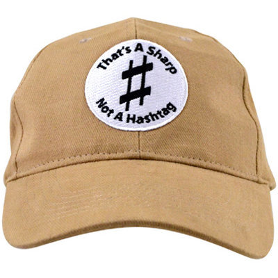 View larger image of That's A Sharp Not A Hashtag Hat - Khaki