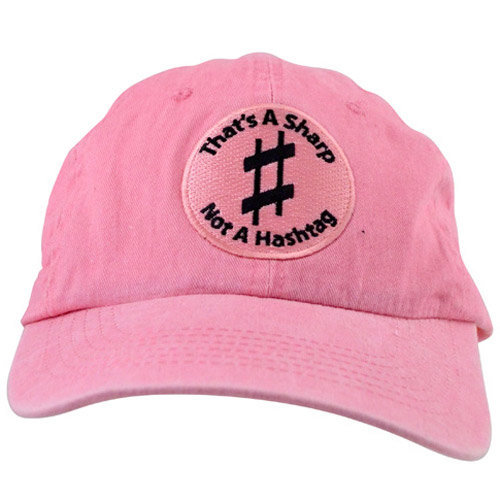 View larger image of That's A Sharp, Not A Hashtag Hat - Pink